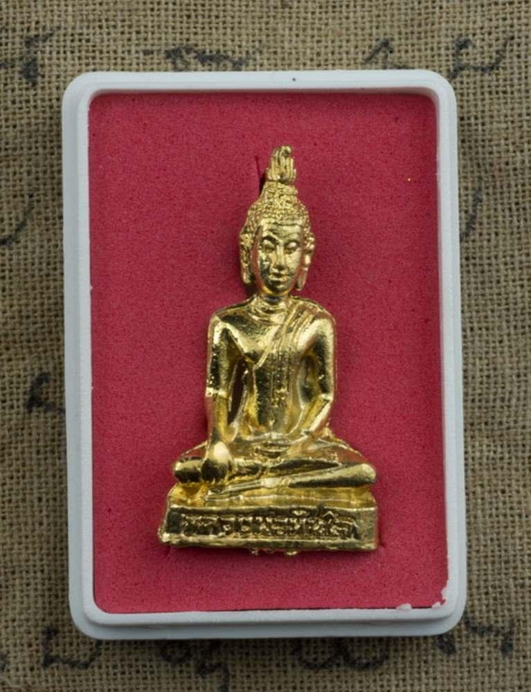 amulette thai phra kring lp chance talisman de protection bouddha dore. Black Bedroom Furniture Sets. Home Design Ideas